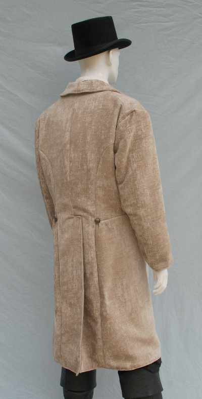 Taupe Distressed Chenille Caroling Coat