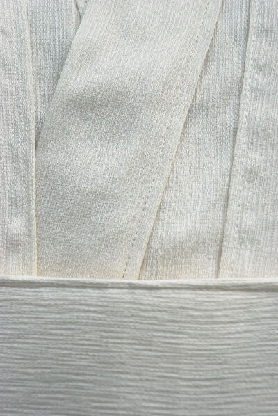 Textured Cream Lightweight Cotton Tunic Set Fabric Detail