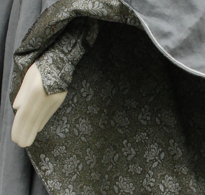 The Grey Lady Brocade Detail