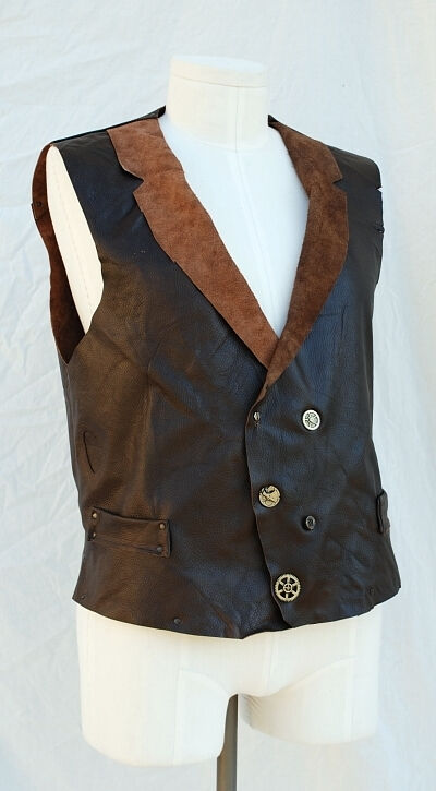 The Mechanic Steampunk Leather Waistcoat