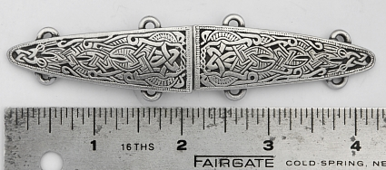 Viking Shield Pewter Cloak Clasp