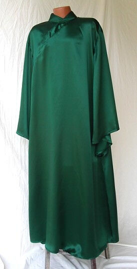 Alternate Voldemort Style Under Robe from Hunter Green Silk Charmeuse