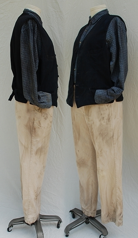 1930s Western Short Film Movie Unused Costume Shirt Vest and Pants