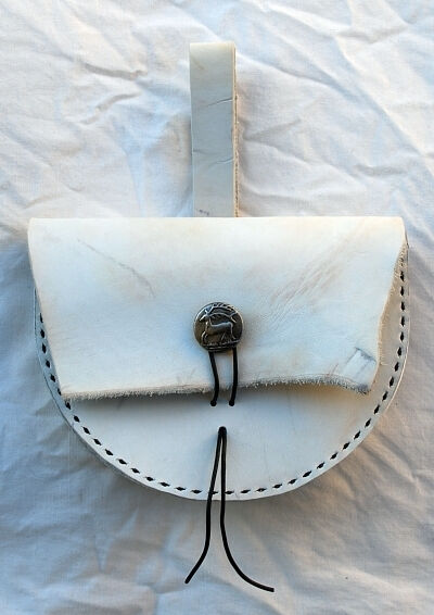 White Leather Shaman Belt Pouch