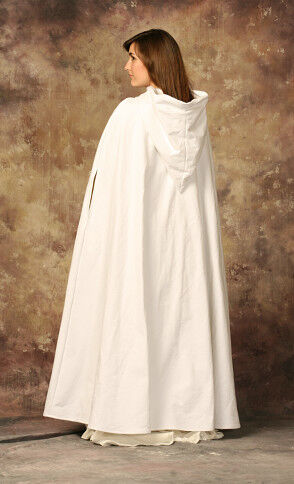 White Cotton Wedding Cloak