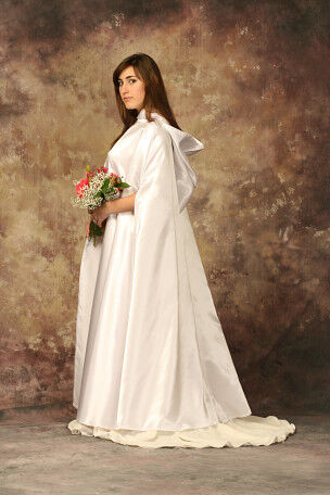 White Satin Wedding or Handfasting Cloak