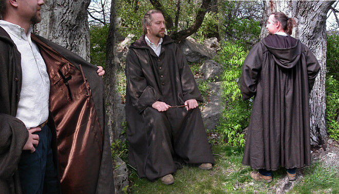 Professor Lupin Inspired Wool Wizard School Professor Robe