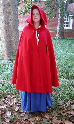 Rev War Style Red Wool Cloak